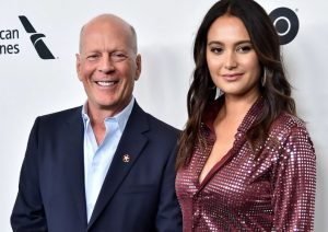 Bruce Willis with wife Emma Hemings