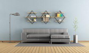 Modern Shelves in Living Room - Wall Decor Ideas