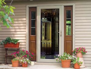 simple storm door that comes with a full-size glass panel