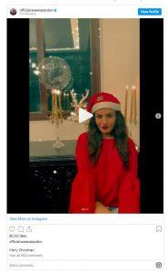 Ravina Tondon posing on Christmas