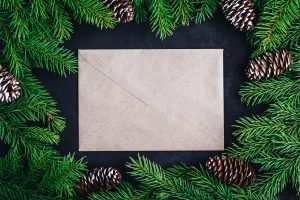 Christmas cards to relatives and friends