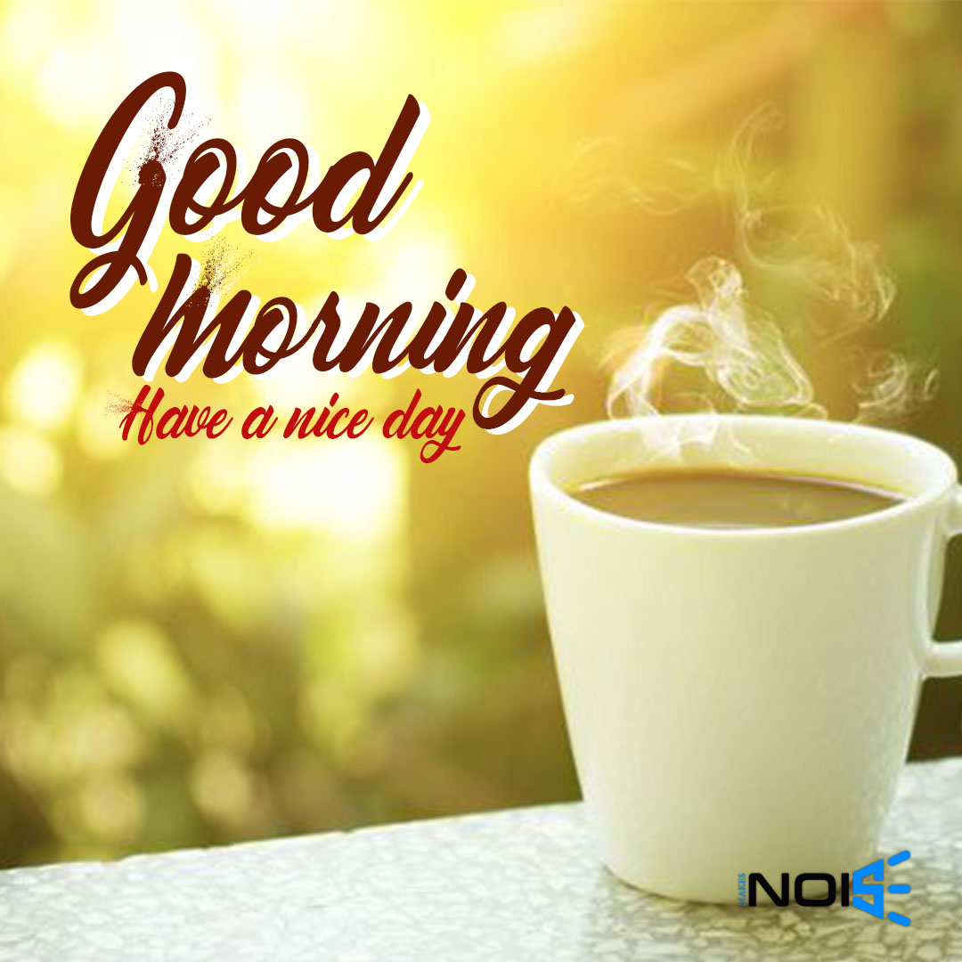 Good Morning whatsapp dp image - With a Cup of Tea