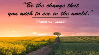 """""""Be the change that you wish to see in the world."""" ― Mahatma Gandhi"""