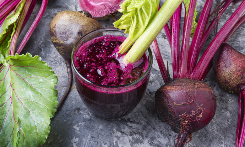 Fresh beetroot smoothie