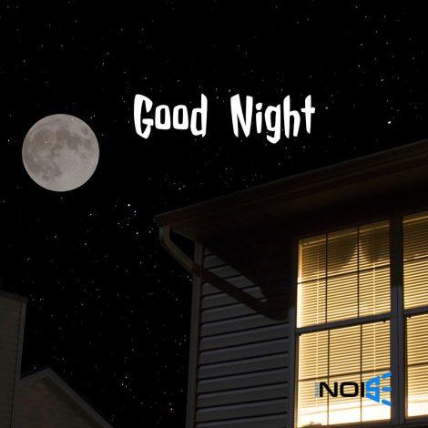 Good Night DP for whatsapp : Dark Night with Moon